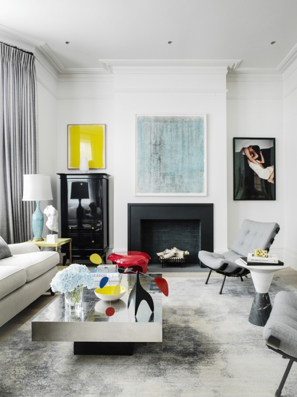 Tamzin Greenhill - London - Living Room and fireplace