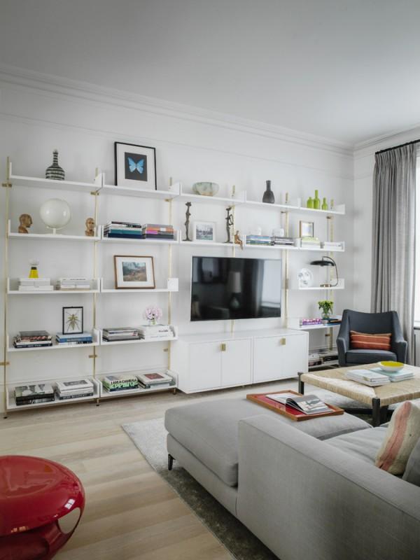 Tamzin Greenhill - London - TV Room Shelves